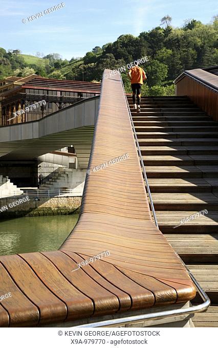 Pedro Arrupe Bridge, Bilbao, Pais Vasco, Basque Country, Spain