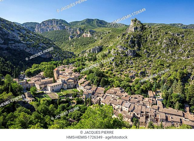 France, Herault, the Causses and the Cevennes, Mediterranean agro pastoral cultural landscape, listed as World Heritage by UNESCO, Saint Guilhem le Desert