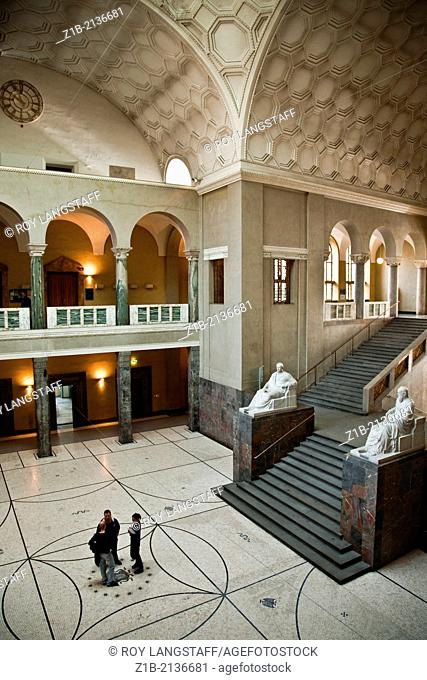 Interior view of Ludwig Maximilian University of Munich, where is 1943 an anti-Nazi student protest began, called the White Rose