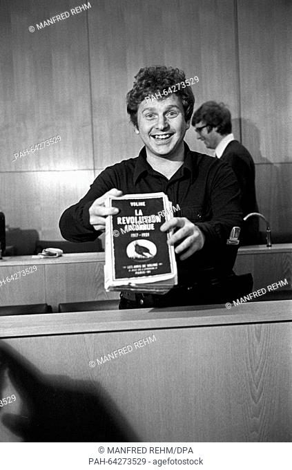 Student leader Daniel Cohn-Bendit at Frankfurt district court during his appeal proceedings on 23 January 1969. He had been sentenced to eight months of prison...