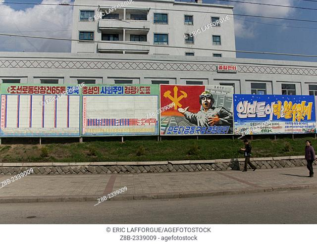 Propaganda Billboards, North Korea