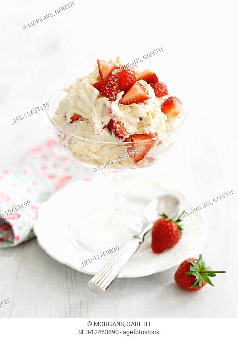 Eton Mess with strawberry