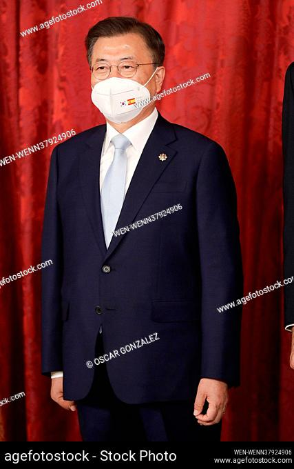 The Spanish Royals, King Felipe VI of Spain, Queen Letizia of Spain host a dinner for South Korean President Moon Jae-in