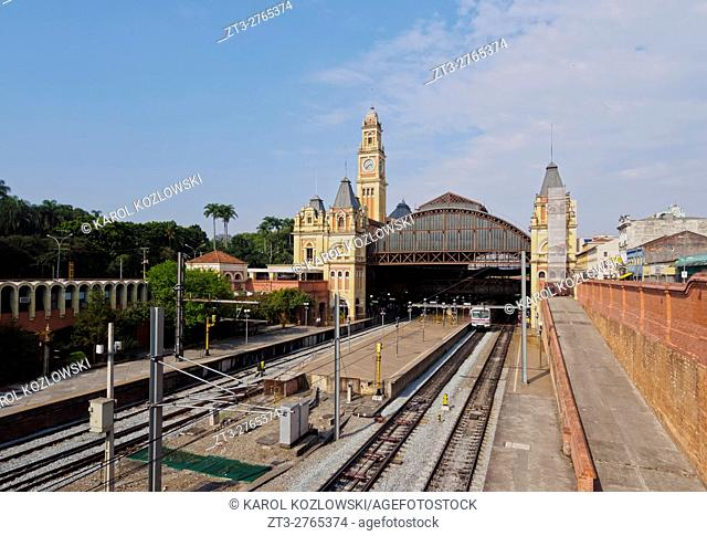 Brazil, State of Sao Paulo, City of Sao Paulo, View of the Luz Station