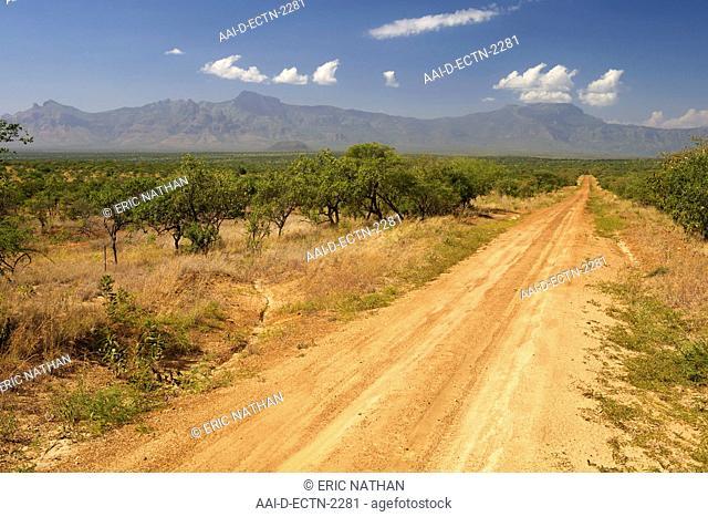 Mt Ayass 2633m and Mt Kadam 3068m in the Debasien range of mountains in the Nakapiripirit region of eastern Uganda
