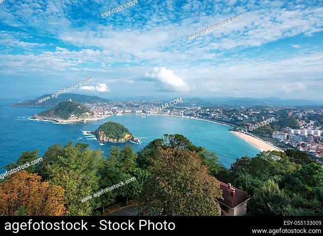 San Sebastian bay, basque country, Spain