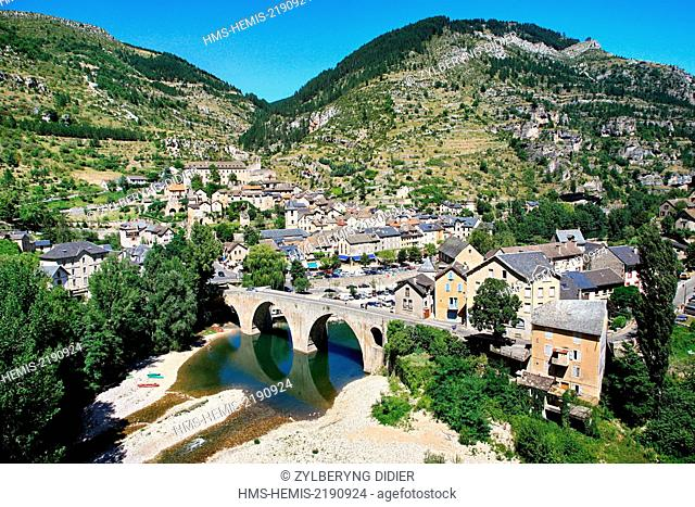 France, Lozere, Sainte Enimie, overview
