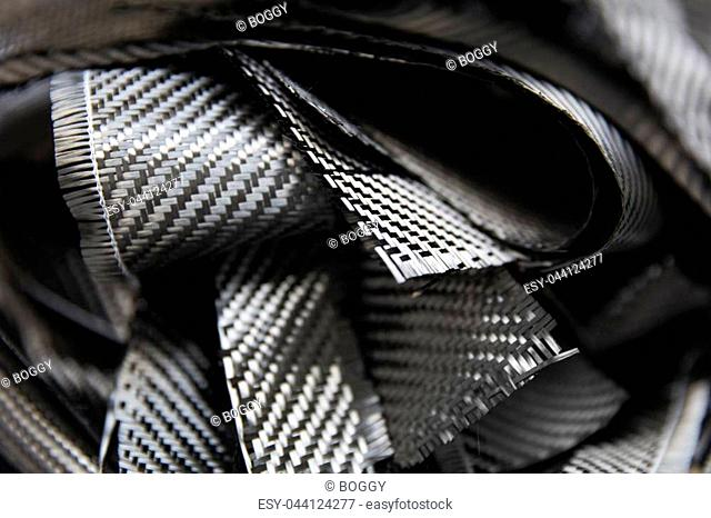 Closeup detail of the carbon fibers backdrop