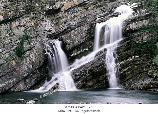 Rock wall, waterfall, detail