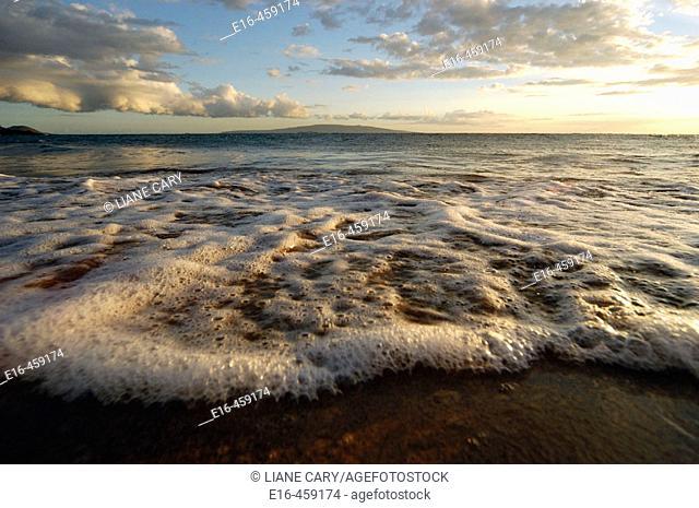 Beach sunset, Hawaii. USA