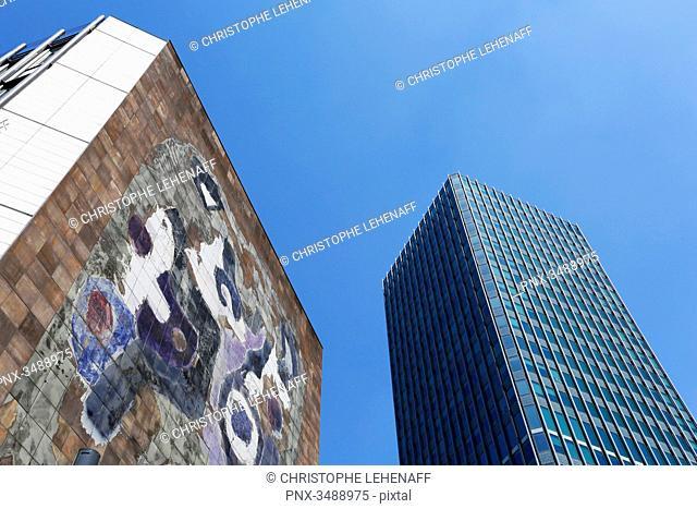France,Paris. 5th arrondissement. Pierre and Marie Curie University. Jussieu. Main tower