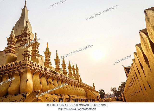 Pha That Luang Great Golden Stupa at Vientiane, Laos