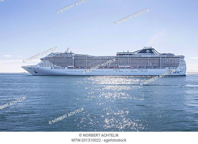 Royal cruise ship in river, Lisbon, Portugal
