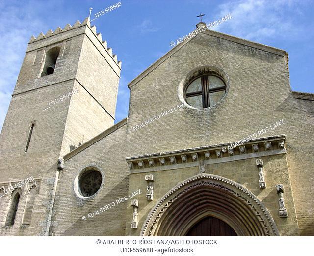Santa Marina church. Macarena neighbourhood. Sevilla. Andalucia. Spain