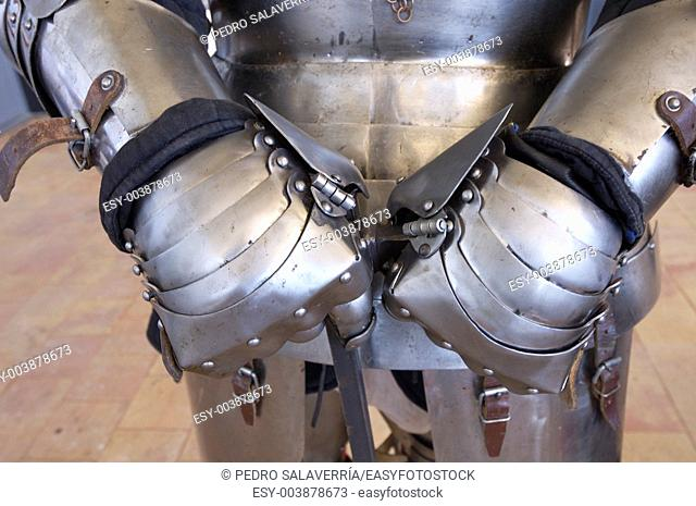forefront of the hands of medieval armor