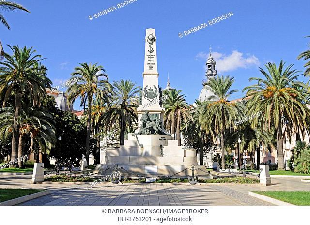 War Memorial, Cartagena, Murcia Region, Spain