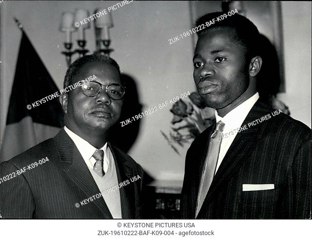 Feb. 22, 1961 - Congo's Bicoumat and Ibouanga at a Press Conference (Credit Image: © Keystone Press Agency/Keystone USA via ZUMAPRESS.com)