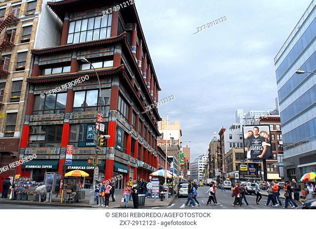 China Town streets, Manhattan, New York City, USA