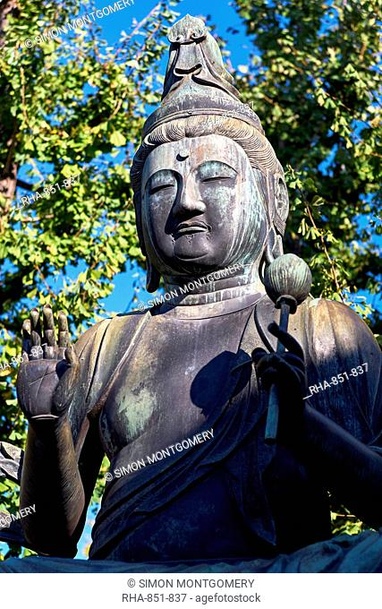 Seishi Bosatsu Buddha sculpture at the Sensoji Temple in Asakusa, Tokyo, Japan, Asia