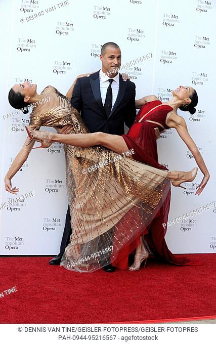 Crissy Barker, Nigel Barker and Kimberly Hise attend the 2017 Metropolitan Opera Opening Night at The Metropolitan Opera House on September 25