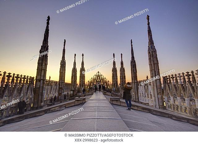The terrace if the Duomo, Milan, Italy