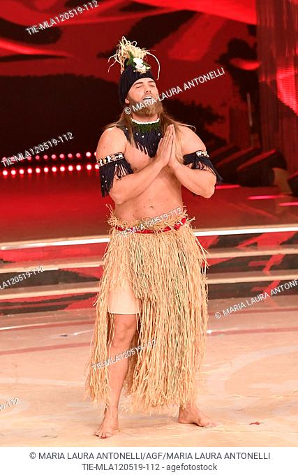 Lasse Matberg during the performance at the tv show Ballando con le setelle (Dancing with the stars) Rome, ITALY-11-05-2019