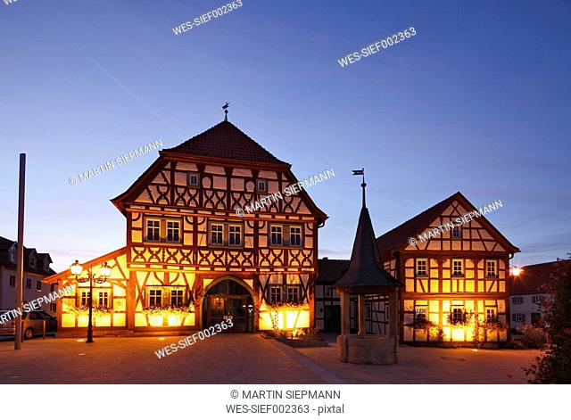 Germany, Bavaria, Stadtlauringen, View of town hall