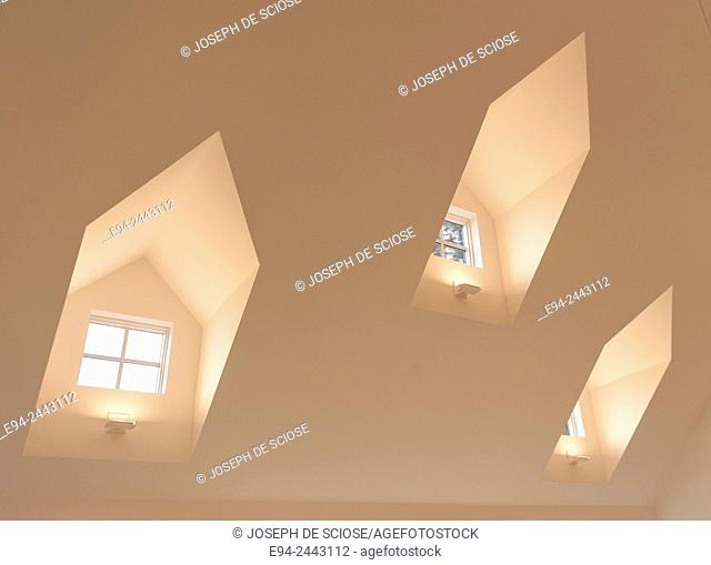 Dormer windows inside of a home