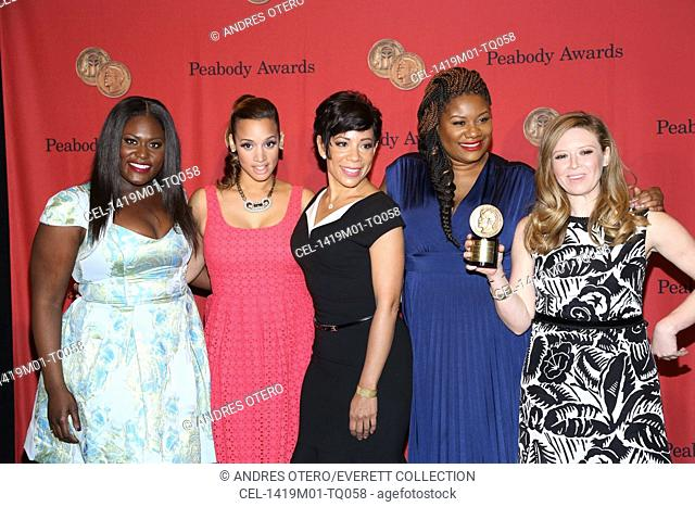 Danielle Brooks, Dascha Polanco, Selenis Leyva, Natasha Lyonne at arrivals for 73rd Annual George Foster Peabody Awards, The Waldorf-Astoria, New York