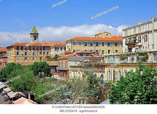 Cityscape, Nice, Alpes-Maritimes department, Provence-Alpes-Cote d'Azur region, Southern France, France, Europe, PublicGround