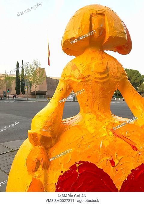 Menina at Goya street. Madrid, Spain