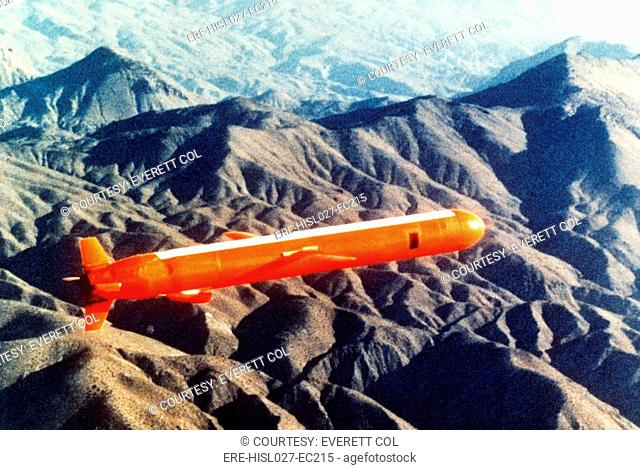 Tomahawk Sea Launch Cruise Missile in flight. Nov. 26 1980. BSLOC-2011-12-242