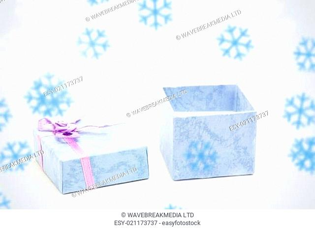 Composite image of snowflakes