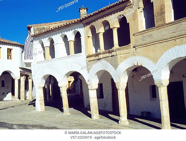 Main Square. Garrovillas, Caceres province, Extremadura, Spain