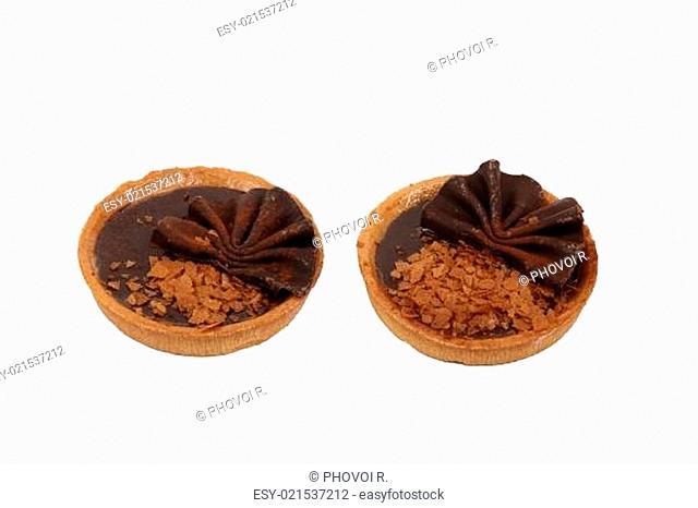 Two chocolate tarts