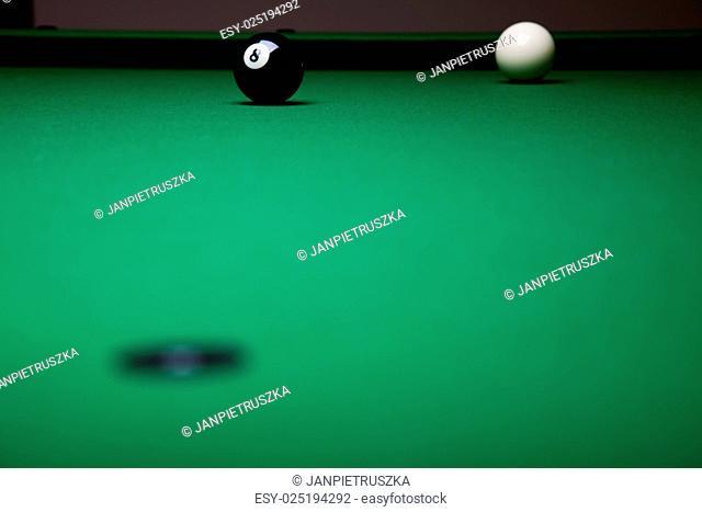 Billiard balls, pool, vivid colors, natural tone