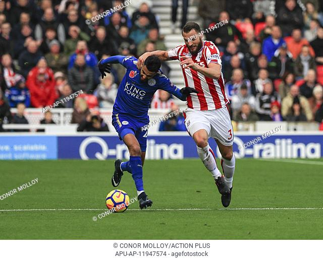 2017 EPL Premier League Stoke City v Leicester City Nov 4th. 4th November 2017, bet365 Stadium, Stoke-on-Trent, England; EPL Premier League football