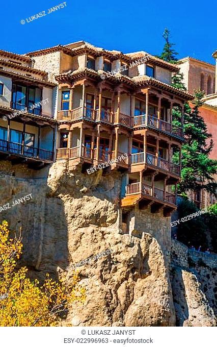 Casas colgadas (hanging houses) in Cuenca in Castille La Mancha, Spain