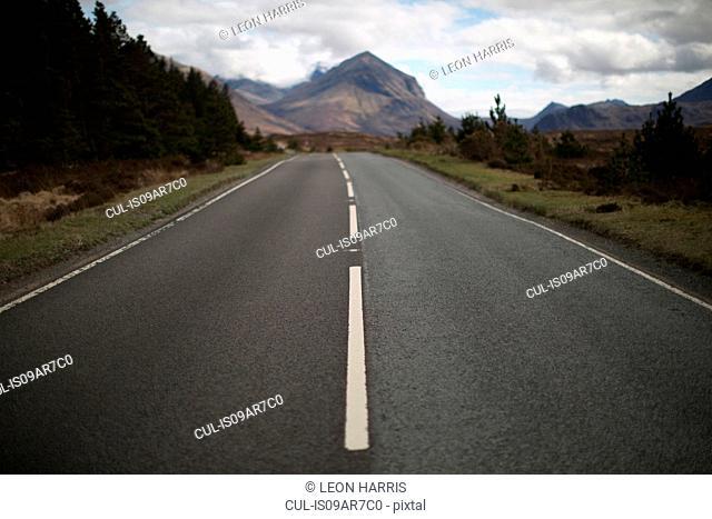 Empty road, Isle of Skye, Hebrides, Scotland
