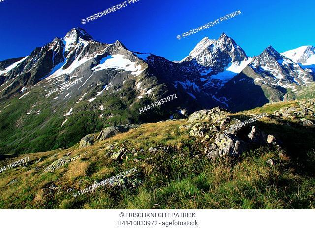 Switzerland, Europe, Fleckistock, Stucklistock, Sustenhorn, Chli Sustenhorn, Sustenspitz, Gwachtenhorn, Susten Pass ar