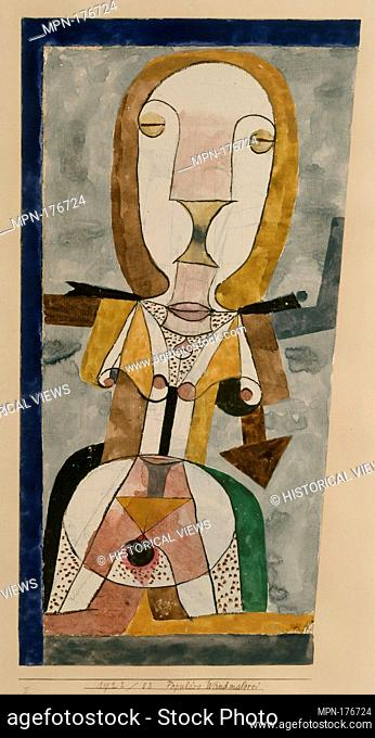 Popular Wall-Painting. Artist: Paul Klee (German (born Switzerland), Münchenbuchsee 1879-1940 Muralto-Locarno); Date: 1922; Medium: Gouache and graphite on...