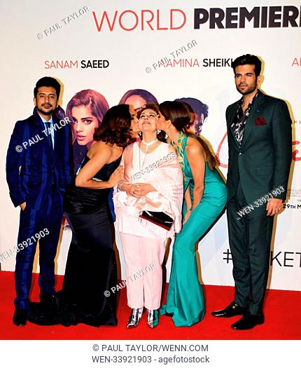 'Cake' World Premiere at London's West End in Leicester Square - Arrivals Featuring: AAMINA SHEIKH, SANAM SAEED, ADNAN MALIK, BEO RAANA ZAFAR
