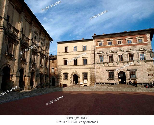 Piazza Grande / Main Square/ in Montepulciano, Tuscany, Italy