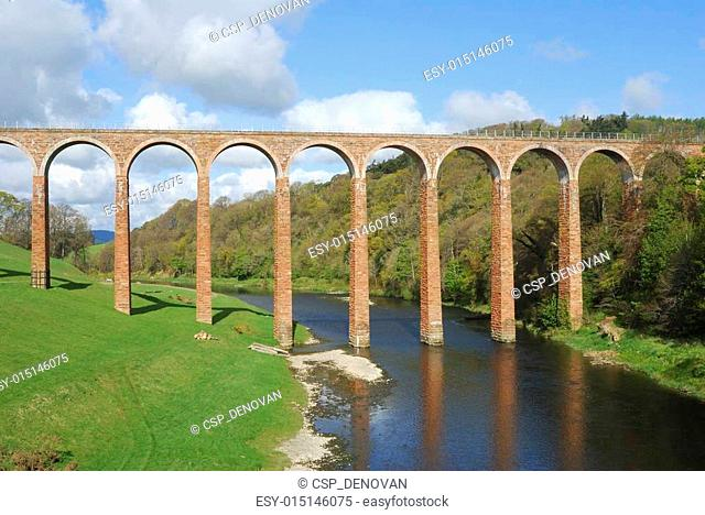 bridge over river Tweed near Melrose at Leaderfoot