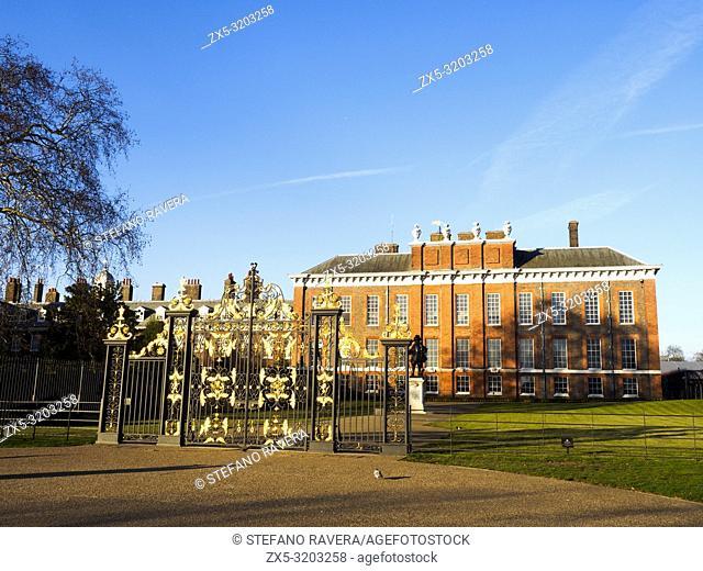 Kensington Palace in Kensington Gardens - London, England