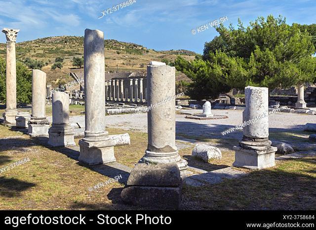 Asklepieion (also spelled Asclepieion, Asclepion, Asklepion, Asclepeion), near Bergama, Izmir Province, Turkey. Ancient medical centre