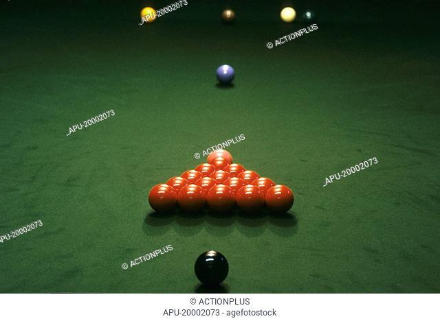 Snooker balls in formation