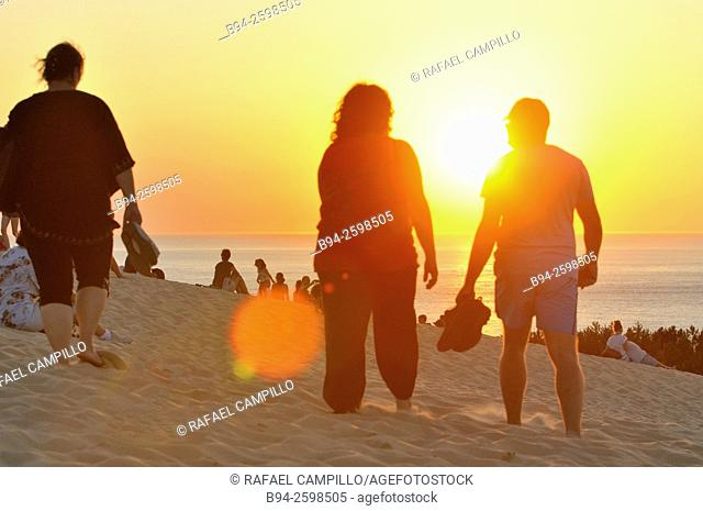 Sunset. People. Dune of Pilat or Pyla (French: Dune du Pilat, official name), is the tallest sand dune in Europe. It is located in La Teste-de-Buch in the...