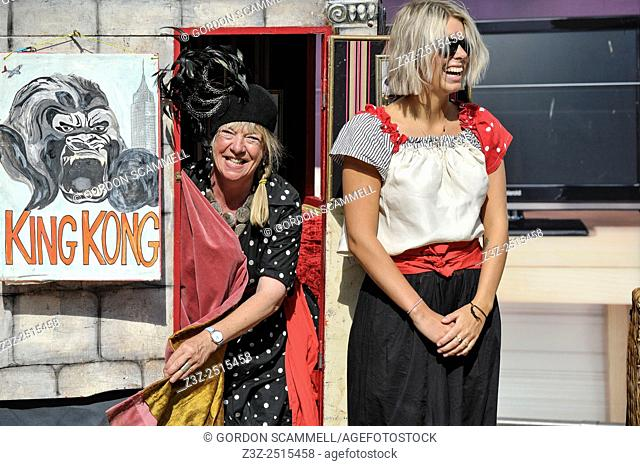 The Smallest Theatre in the World performing at a street theatre festival in South Woodham Ferrers in Essex