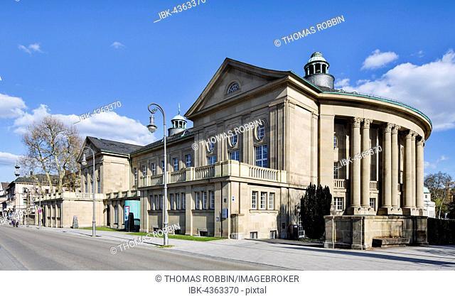 Kursaal building or Regentenbau, spa garden, Bad Kissingen District, Lower Franconia, Bavaria, Germany